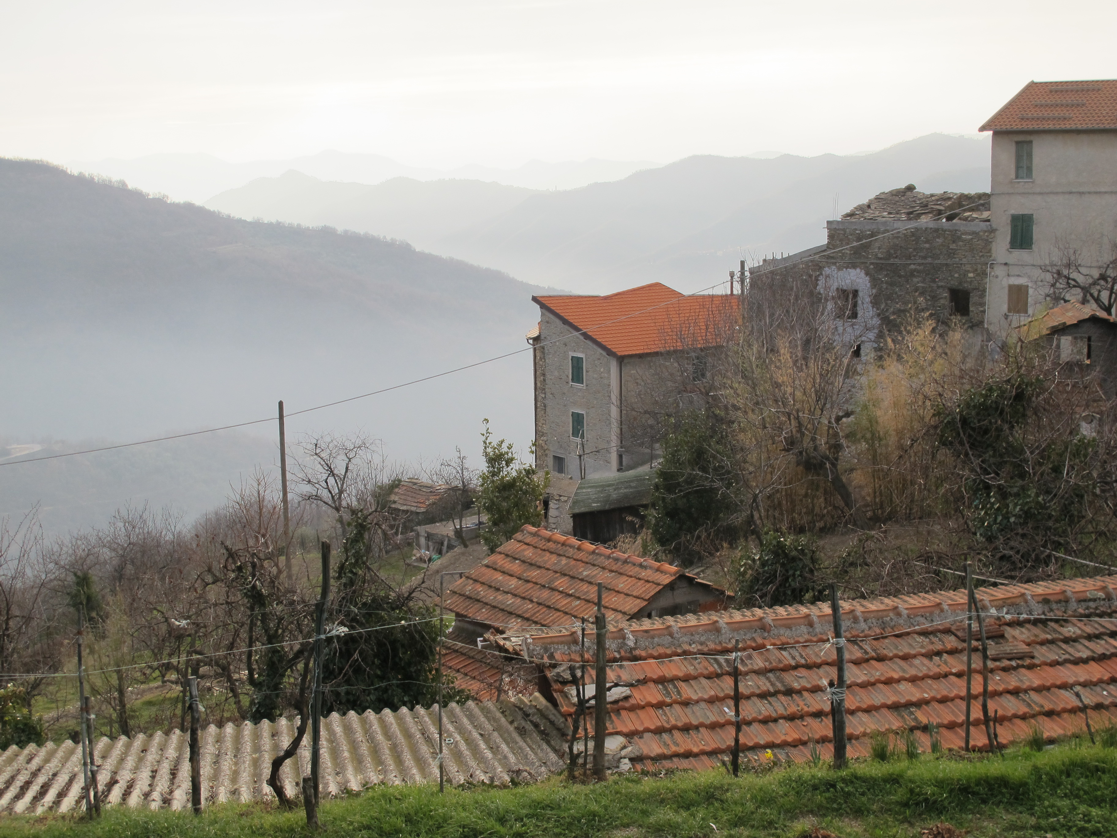 A misty view from Nonna and Anna's village.