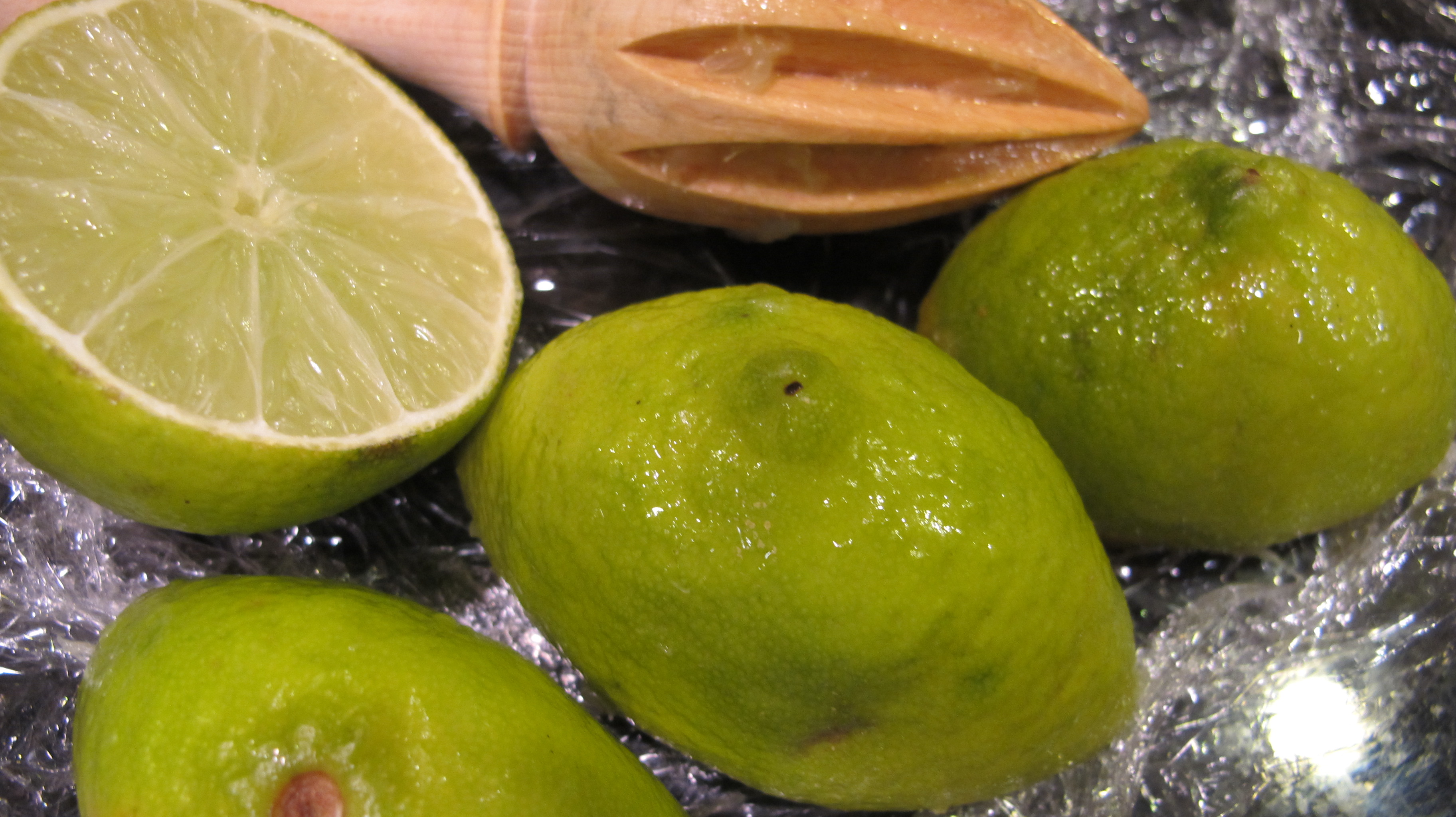 Limes to use in the vinaigrette.