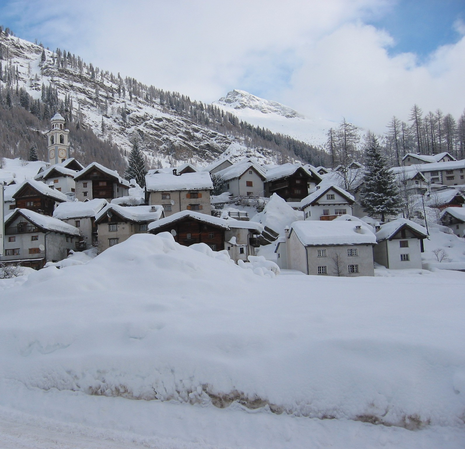 Bosco Gurin is a small village perfect for skiing.