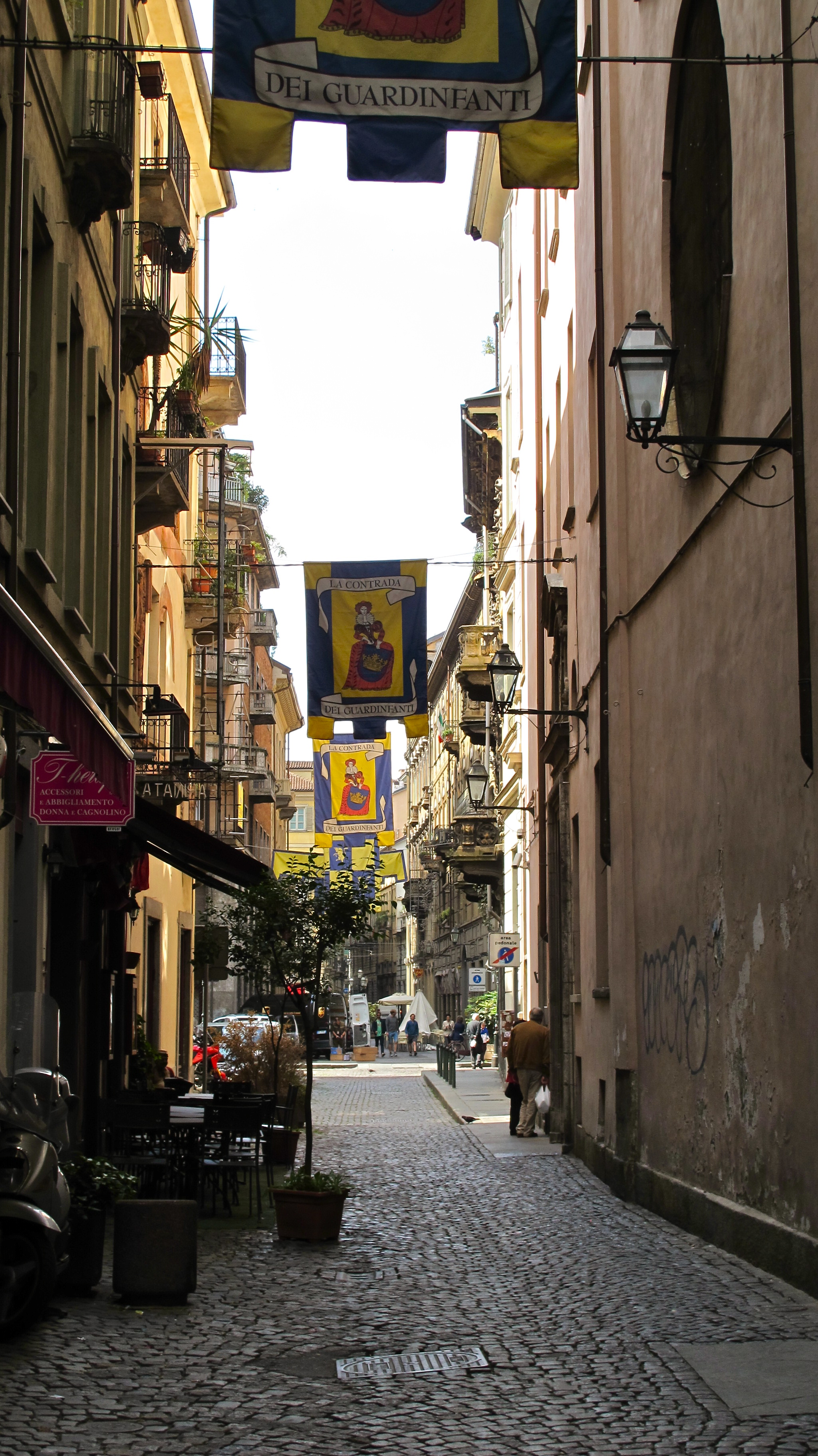 "The ""mile-long menu"" restaurant in Torino was right down this festive street."