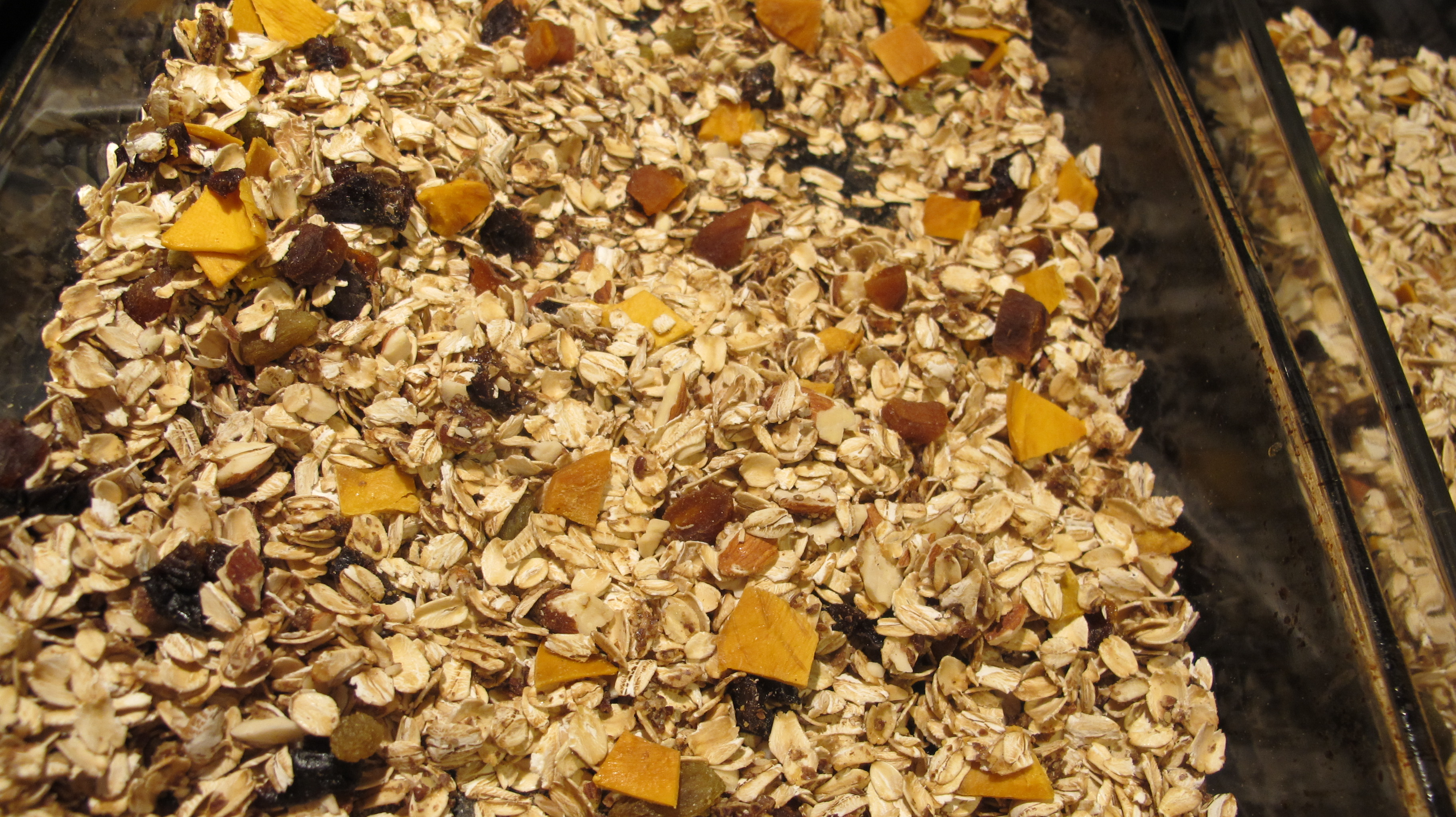 The muesli is ready.