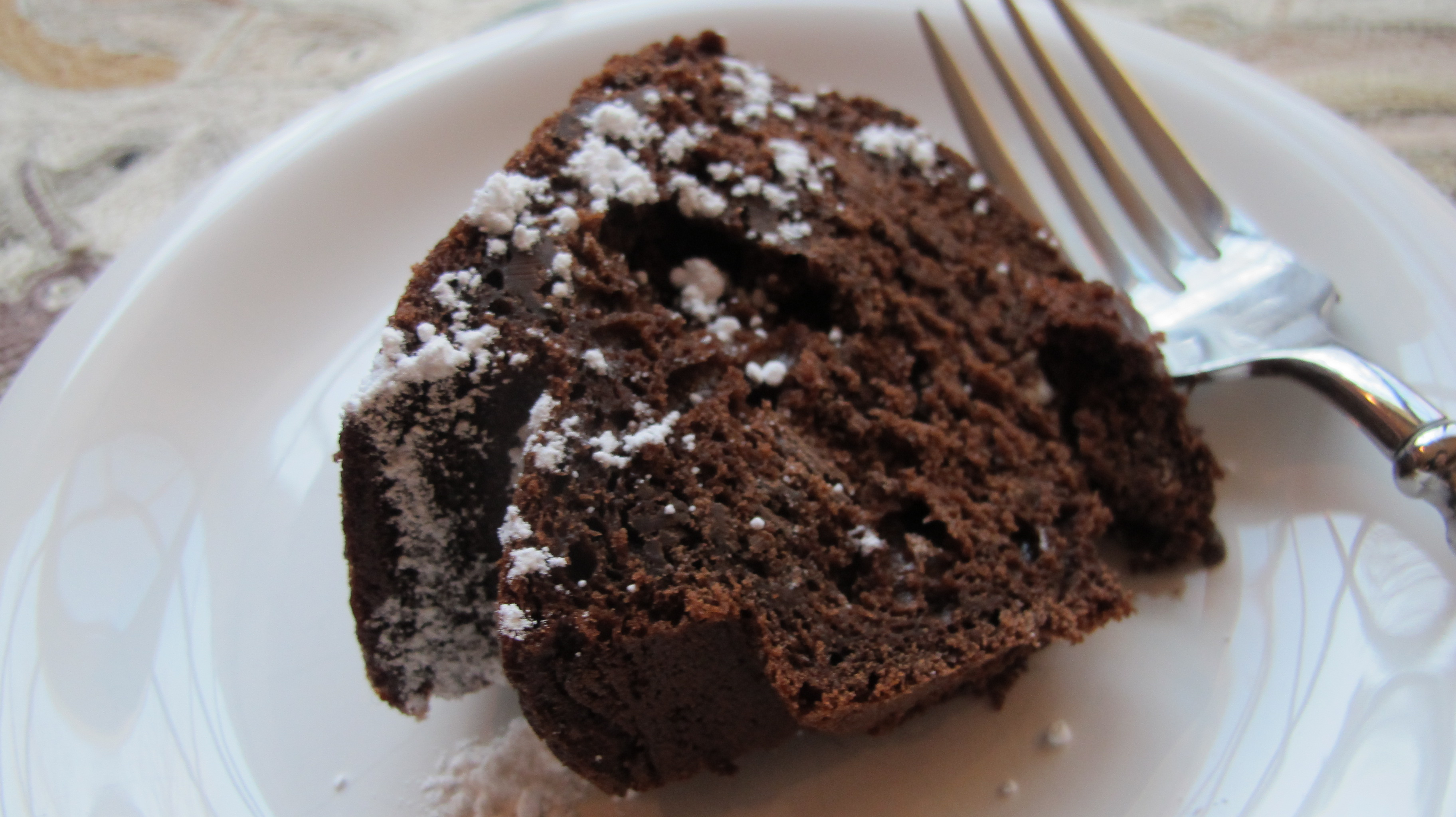 A Plate of Chocolate Bundt