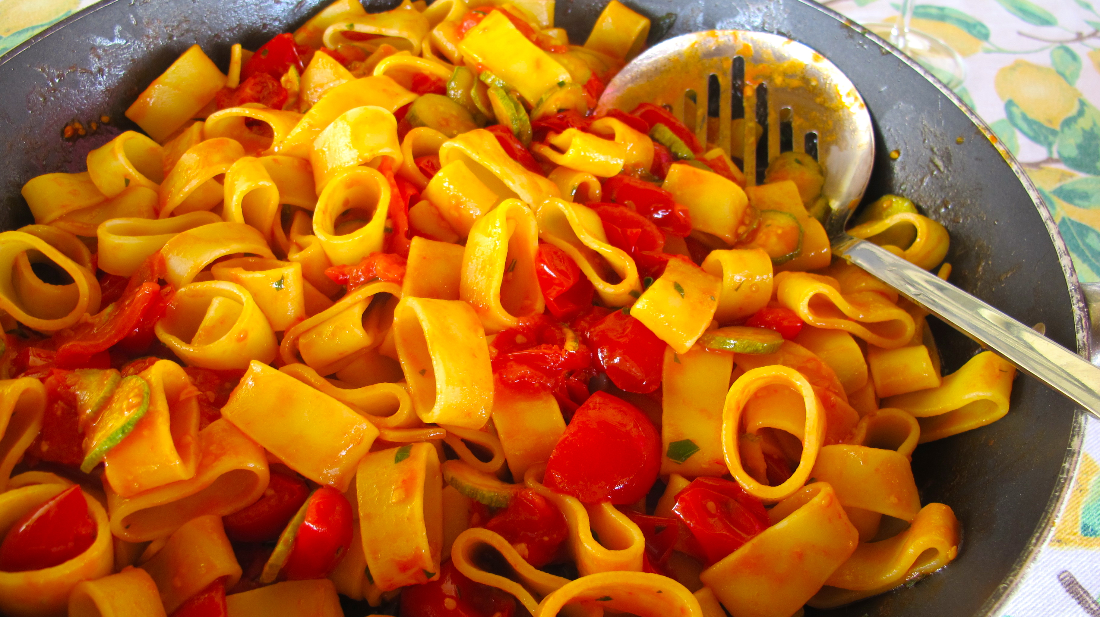 Summer Pasta with Zucchini and Tomatoes