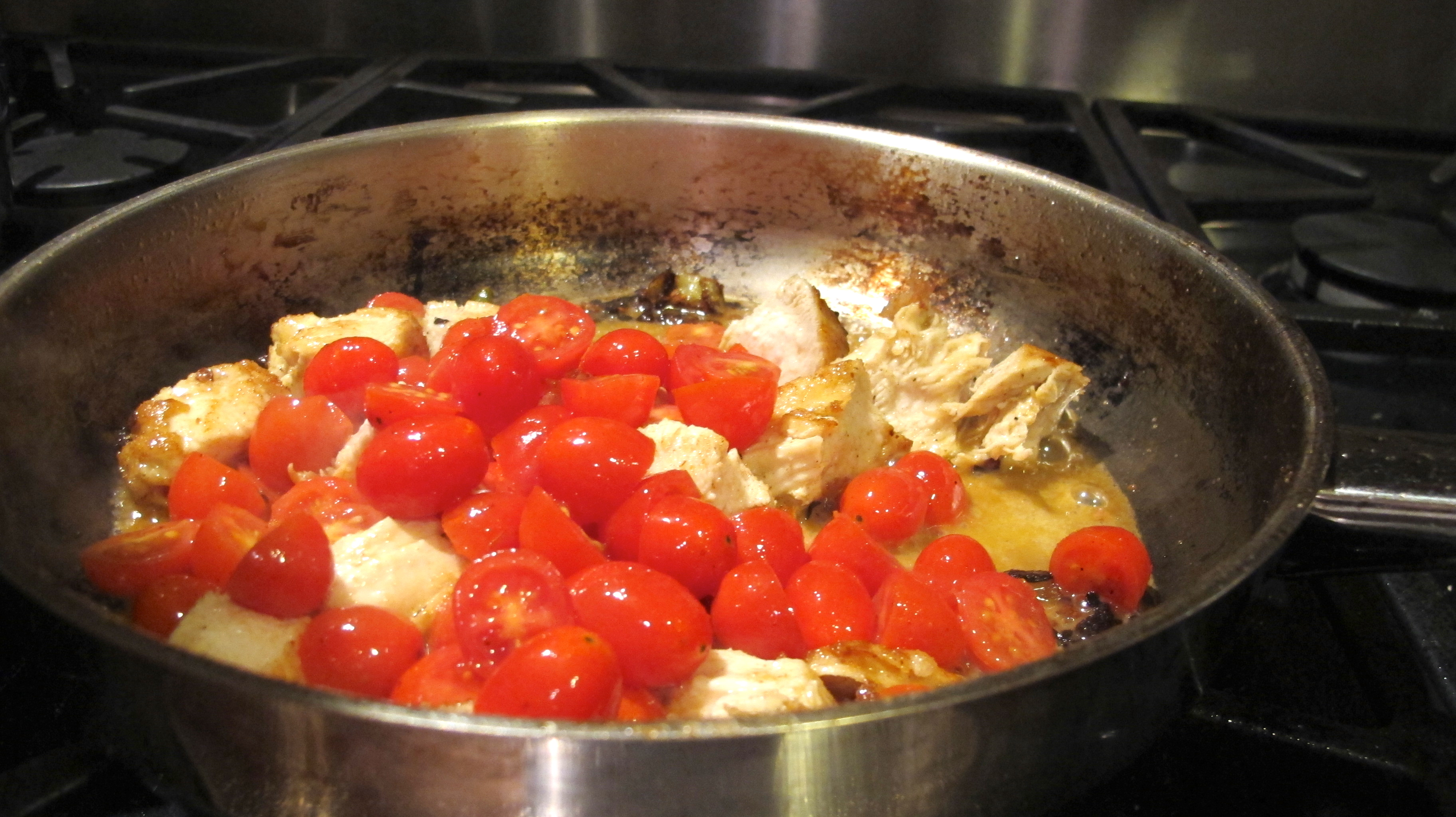 Add the cherry tomatoes.