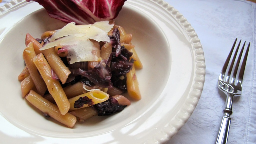 Penne with Radicchio and Pecorino