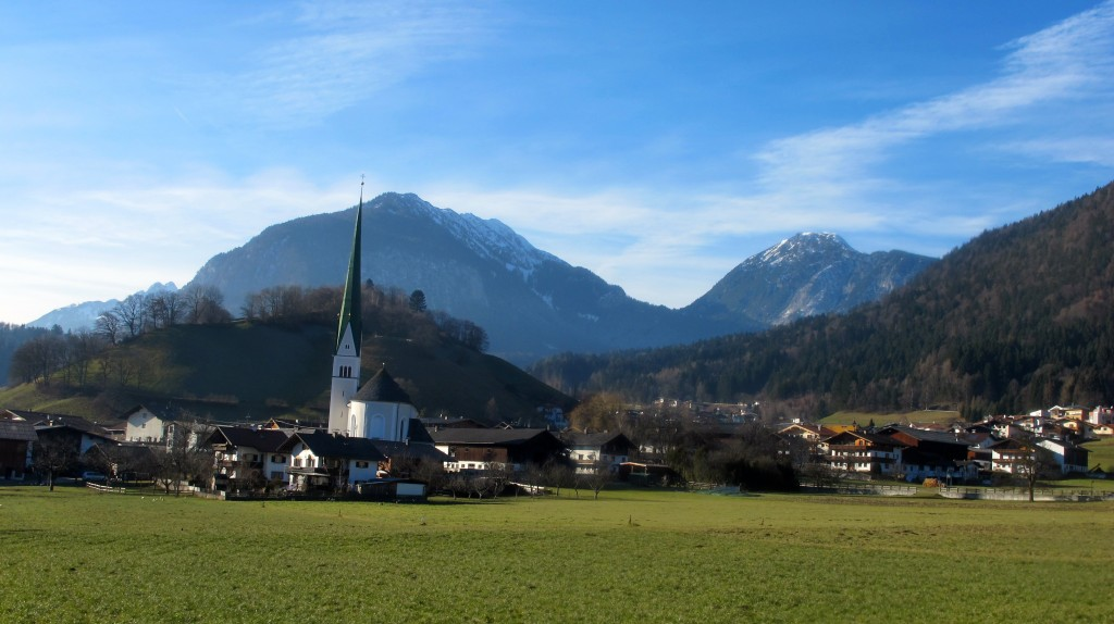 A typical Austrian village. The village of Wieseng, which neighbors Pertisau.