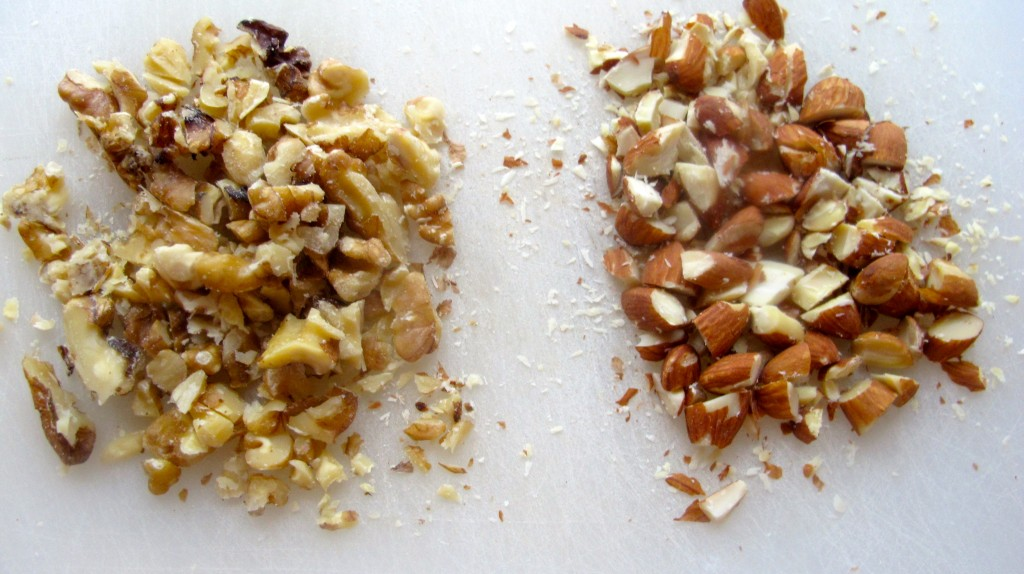Chopped Almonds and Walnuts