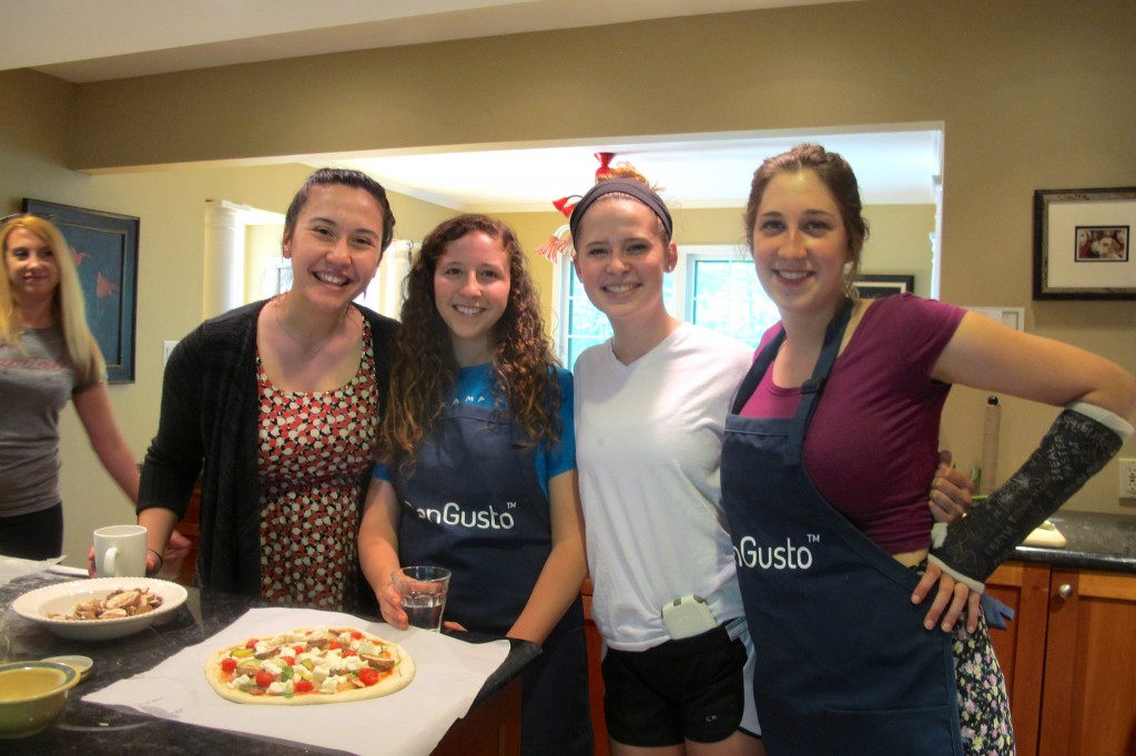 Four hard workers come together for a snapshot: (from left to right) Angie, Abbey, Kirsten, and Penny.