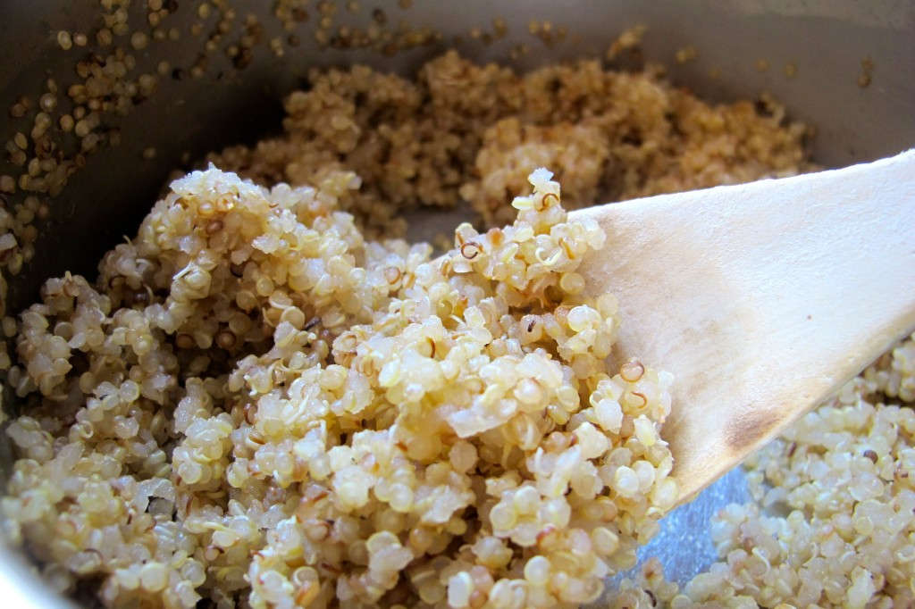 Cooked, white quinoa. Nice and fluffy!