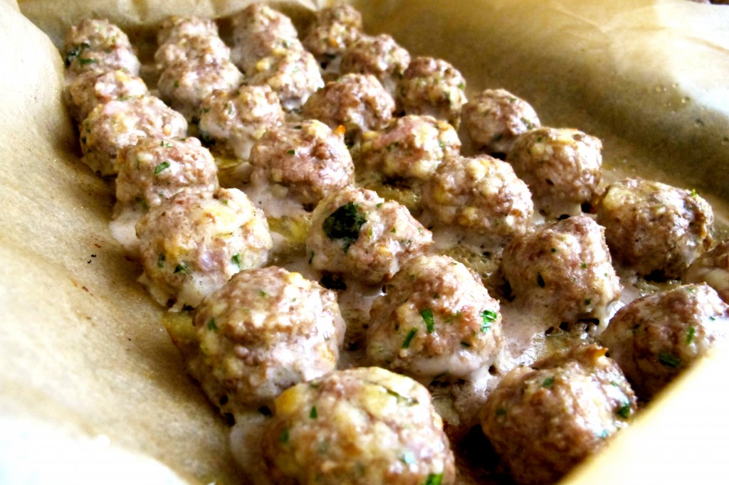 Baked meatballs.