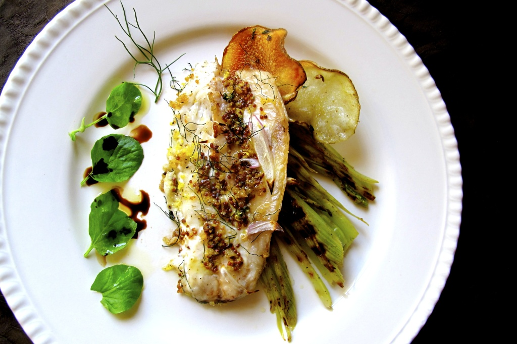 Dijon Branzino with Fennel
