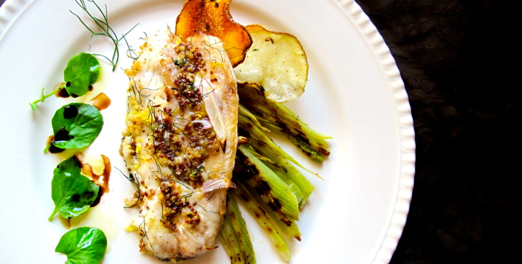 What we will be cooking up today: Dijon Branzino with Fennel