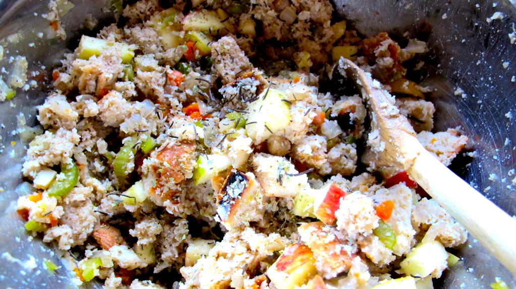 The stuffing mix.