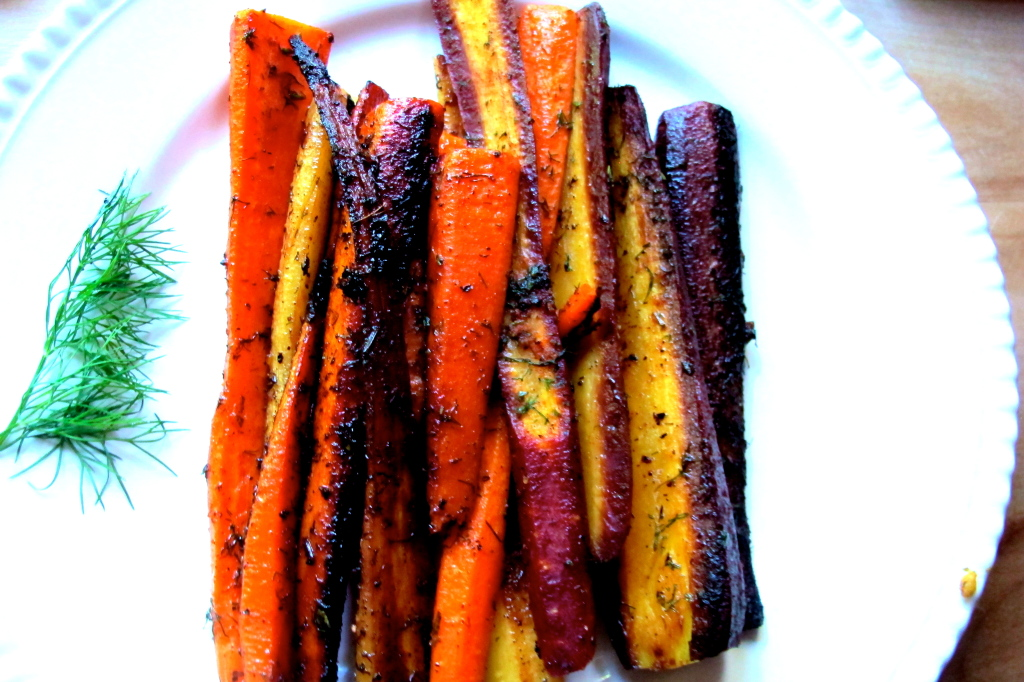 Spicy Sauteéd Rainbow Carrots