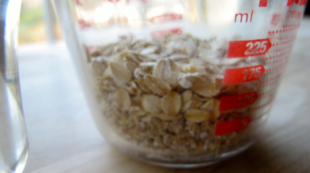 2/3 cup oats