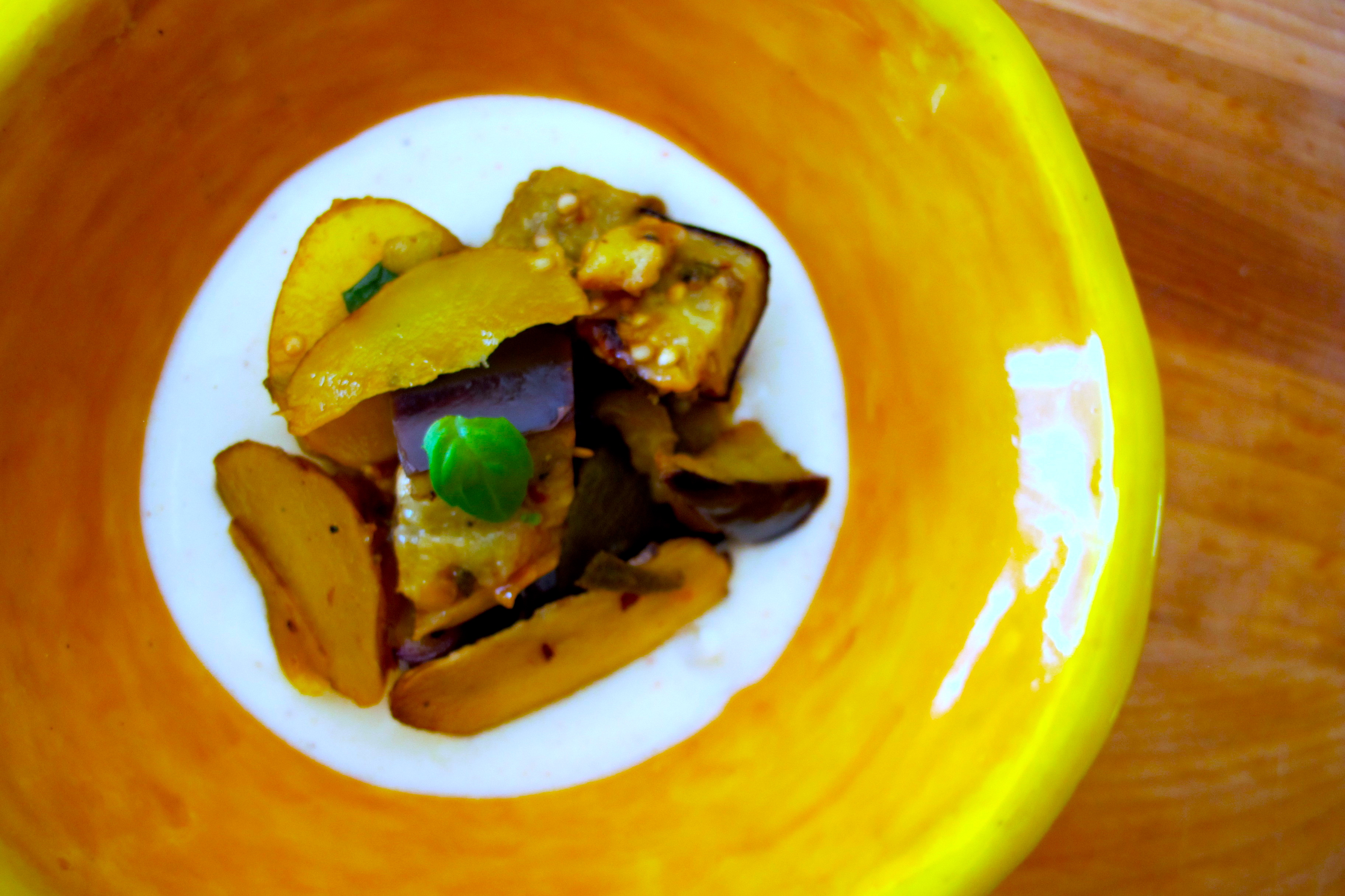 ... Food: Sunchoke and Roasted Eggplant Salad with Buttermilk Dressing