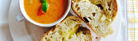 Summer Gazpacho & French Grilled Cheese